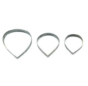Conjunto de Cortadores da pétala da ROSA Pequena com 3 peças