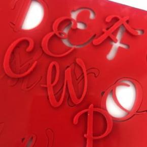 Placa Marcadora de letras do alfabeto - Maiúsculas