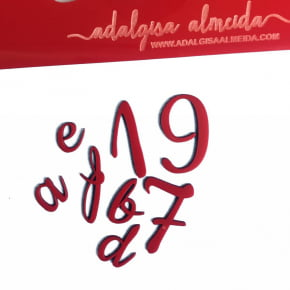 Marcador de letras do alfabeto - Minúsculas e Números
