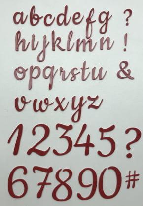 Placa Marcadora de letras do alfabeto grandes - Minúsculas e Números