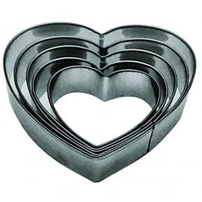 Conjunto de cortadores Coração/Corações com 5 peças