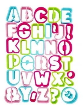 Conjunto de Cortadores de Letras Maiúsculas do Alfabeto com 34 peças para BISCOITO