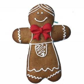 Conjunto de Cortadores Inox Boneco Gingerbread Natal