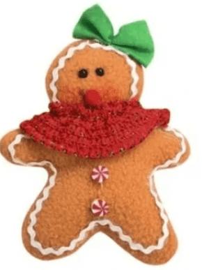 Conjunto de Cortadores plástico Boneco Gingerbread Natal com 5 tamanhos diferentes