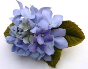 Conjunto de  Flor de Hortência com 2 peças