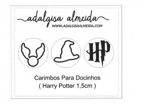 Marcador/Carimbo Harry Potter composto por 3 carimbos