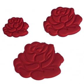 Conjunto de três Cortadores/Marcadores/Ejetores de Rosa