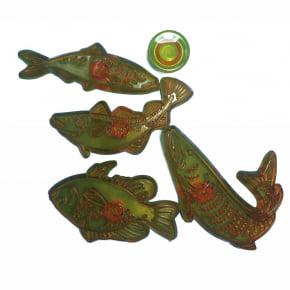 Ejetor de peixes com 4 tamanhos.