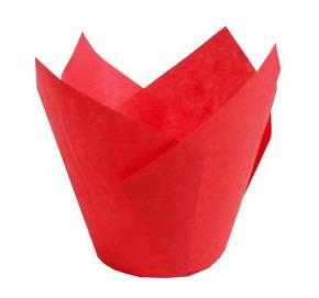 Kit com 25 Forminhas Tulipas para CupCake – Vermelho Ecopack/Sulformas