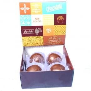 Kit com 5 Caixas personalizadas para 04 doces - Modelo Chocolate
