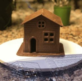 FORMA CHOCOLATE  FDM CHOCO HOUSE CASA CHOCOLATE- ACETATO NRO.850  COM 7 CAVIDADES