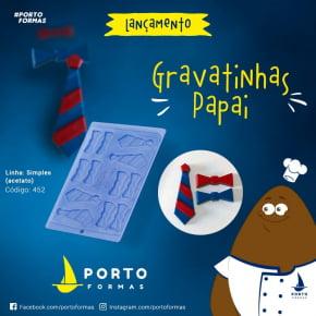 FORMA CHOCOLATE GRAVATINHA GRAVATA PAPAI ACETATO NRO.452 COM 12 CAVIDADES