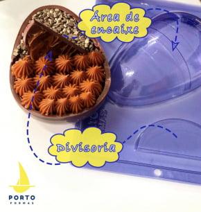FORMA CHOCOLATE OVO PARA 2 RECHEIOS 350G ESPECIAL NRO. 94 COM 2 CAVIDADES - PÁSCOA