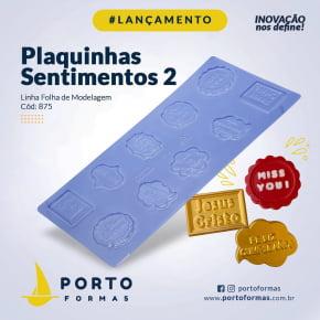 FORMA CHOCOLATE  PLAQUINHA SENTIMENTOS 2 10 CAVIDADES - NRO. 875