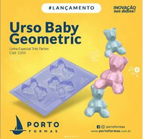 FORMA CHOCOLATE URSO GEOMETRIC BABY ESPECIAL NRO.1203 COM 3 CAVIDADES