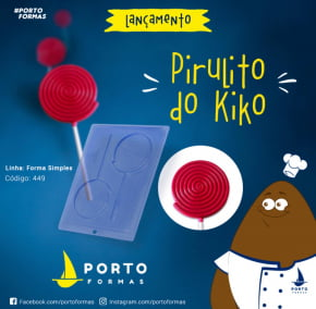 FORMA CHOCOLATE PIRULITO DO KIKO ACETATO NRO.449 COM 2 CAVIDADES