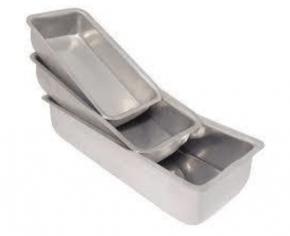 Conjunto de 3 Formas Assadeiras de fundo fixo de alumínio para assar PÃO