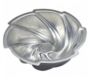 Forma Assadeira Bolos Vulcão - Torta Suíça DECORADA Maria da Paz de alumínio 21cmX8cm