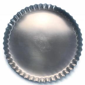 Forma Assadeira Torta Maçã Crespa de fundo fixo de alumínio 17cmx2cm