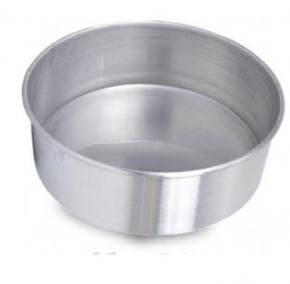 Forma Assadeira redonda de fundo fixo de alumínio para assar bolos 30cm X 8cm
