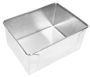Forma Assadeira retangular de fundo fixo de alumínio para assar bolos 20cmX15cmX10cm