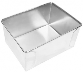 Forma Assadeira retangular de fundo fixo de alumínio para assar bolos 25cmX17cmX10cm