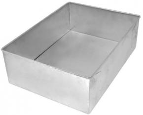 Forma Assadeira retangular de fundo fixo de alumínio para assar bolos 30cmX22cmX10cm