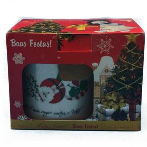 Caneca em porcelana com estampas de Natal - Estampas variadas