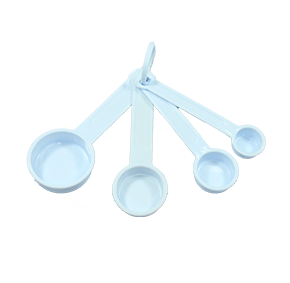 Conjunto de colheres Medidoras de Plástico 4 peças