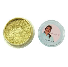 Corante em Pó Metalizado Dourado