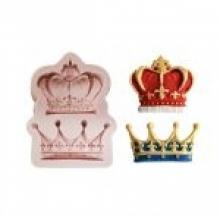 Molde de silicone em formato de 2 coroas diferentes para Santo, rei, rainha, príncipe e princesa