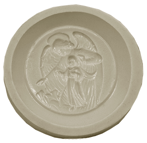 Molde de silicone Anjo da Guarda. Ideal para utilizar com Pasta Americana.