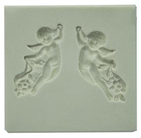 Molde de silicone Anjos com 2 - Batizado