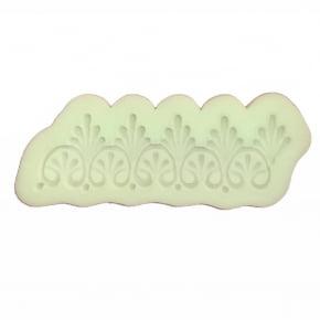 Molde de Silicone com forma de renda Guipir com arabescos. Ideal para utilizar com Pasta Americana.