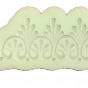 Molde de Silicone com forma de renda Guipir com arabescos.