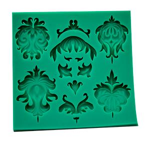 Molde de Silicone de Arabescos em tamanhos variados.