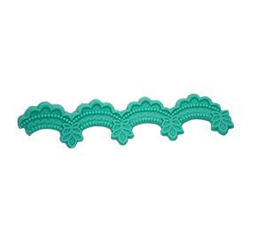 Molde de Silicone com formato de Drapeado com babado e folha.
