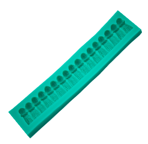 Molde de Silicone em formato de Barrado Cortina