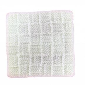 Molde de Silicone em formato de Tecido de tricô. Ideal para utilizar com Pasta Americana.