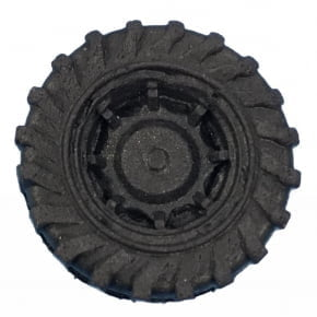 Molde de Silicone com formato de roda pequena