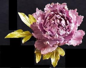 Molde de Silicone Frisador/Marcador de Nervuras da Pétala da Flor Peônia