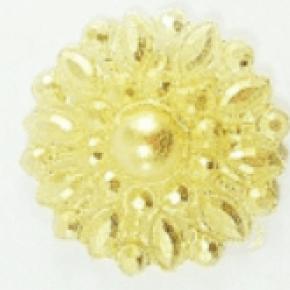 Molde de Silicone em formato de jóias Redonda com Strass com Pérola Central.