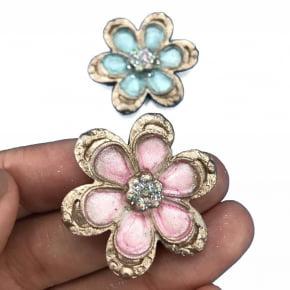 Molde de Silicone formato 3 jóias. Ideal para utilizar com Pasta Americana.