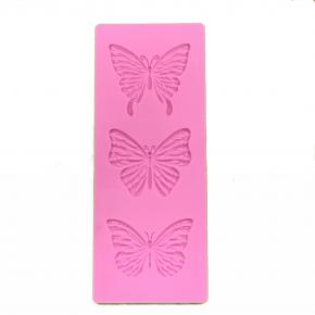 Molde de Silicone em formato de borboleta 3D 3 cavidades