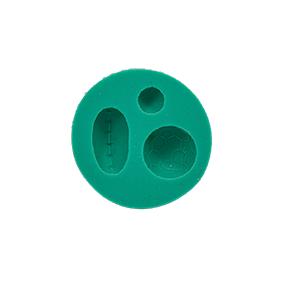 Molde de silicone 3 Bolas. Ideal para utilizar com Pasta Americana.