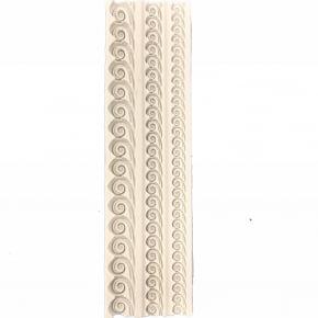 Molde de Silicone barrado em formato de rococó