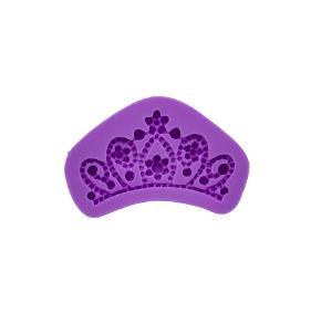 Molde de Silicone com Forma de Coroa. Ideal para utilizar com Pasta Americana.