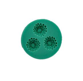 Molde de Silicone com Forma de Flor Crisantemo com 3 cavidades . Ideal para utilizar com Pasta Americana.