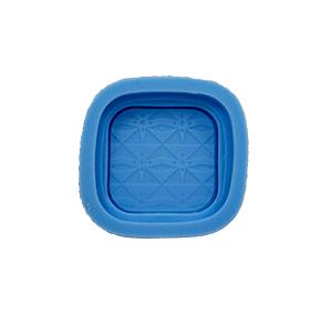 Molde de silicone com forma de maquiagem Pó de Arroz. Ideal para utilizar com Pasta Americana.