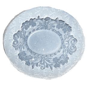 Molde de Silicone com  Forma de Moldura. Ideal para utilizar com Pasta Americana.